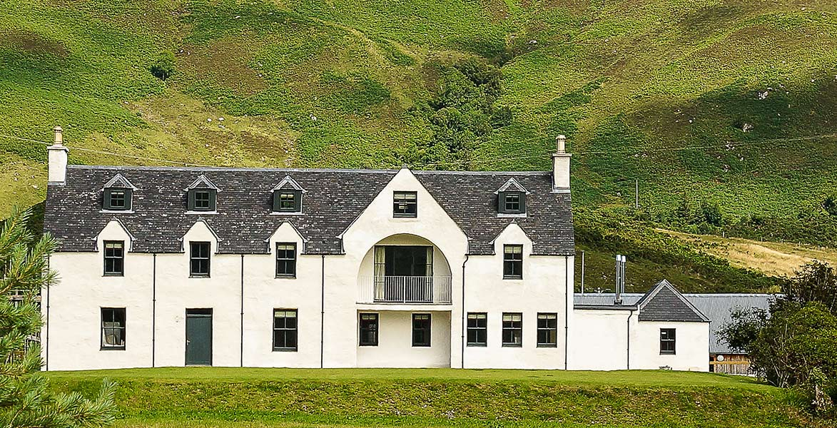 Eilean Donan Apartments, double exterior, hills