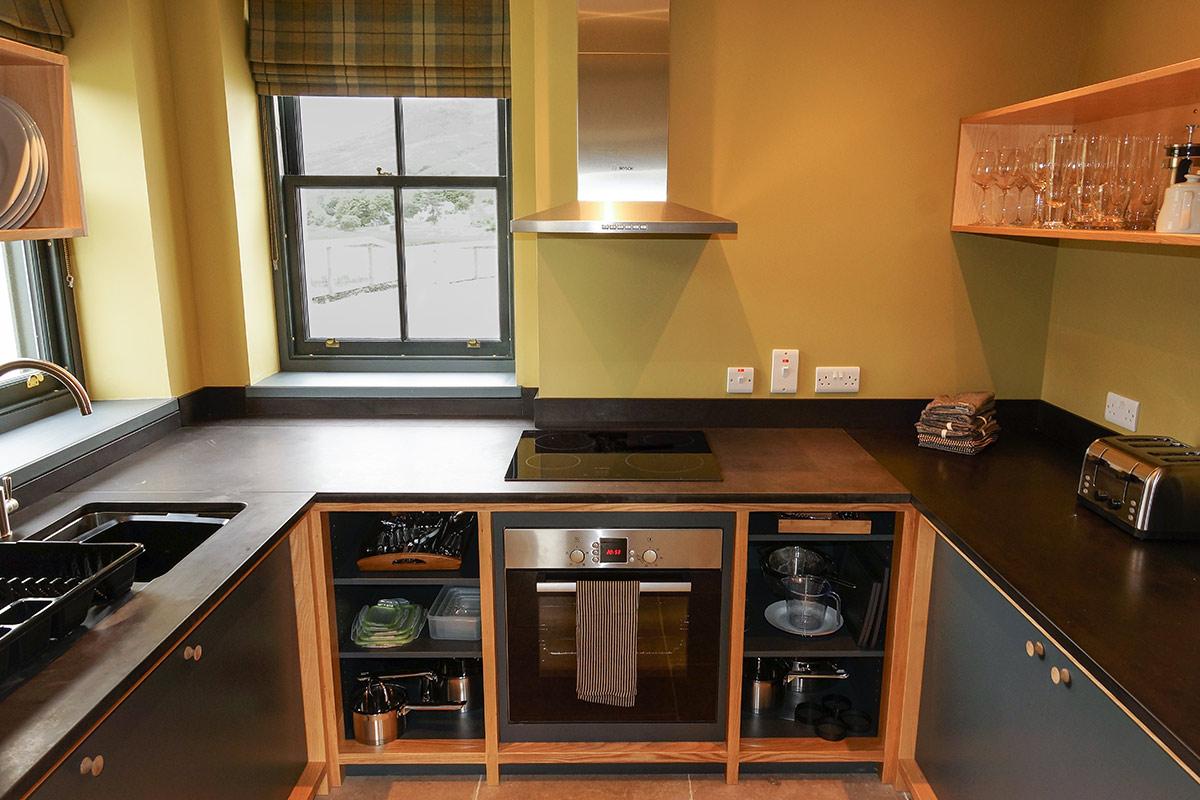 Eilean Donan Apartments, Sleeps four, kitchen