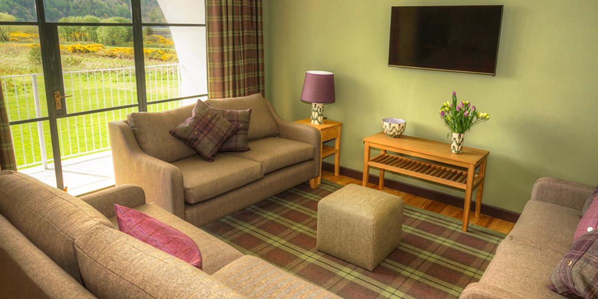 Eilean Donan Apartments, Sleeps four, lounge